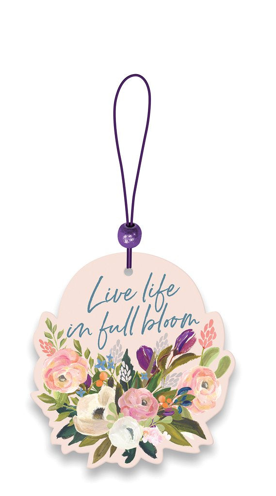 Live Life in Full Bloom Car Air Freshener - Soothing Lavender