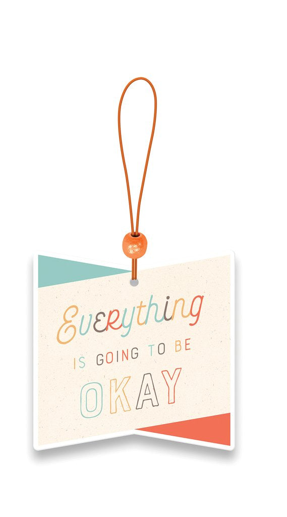 Everything is Okay Car Air Freshener - Bamboo Zen