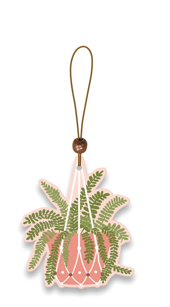 Hanging Fern Car Air Freshener - Rain-Splashed Garden