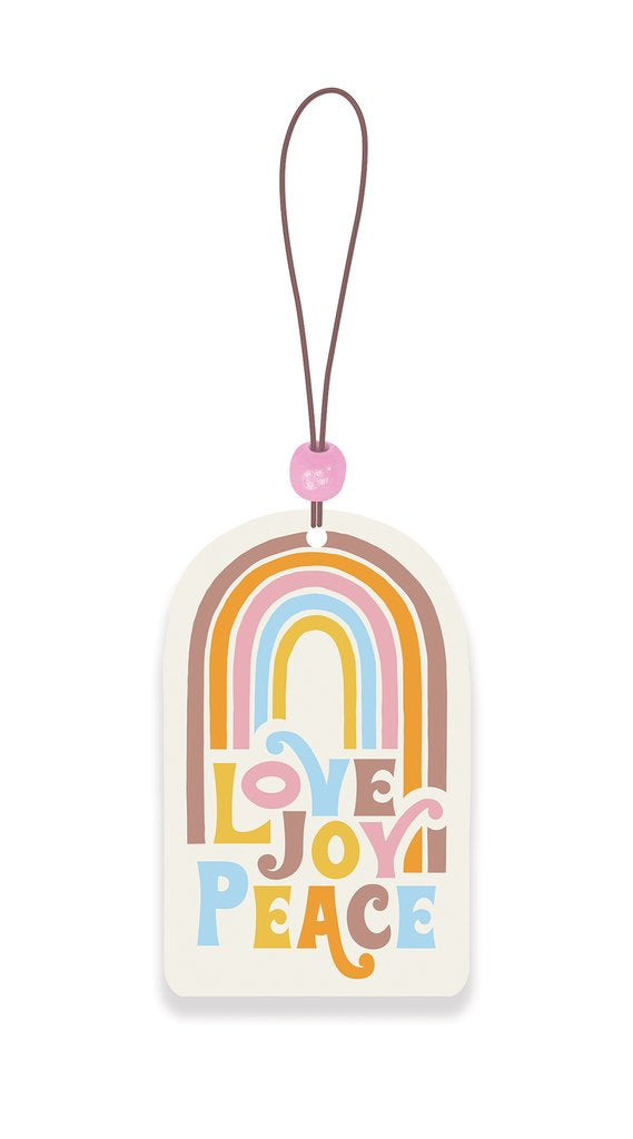 Love Joy Peace Rainbow Car Air Freshener - Good Vibes