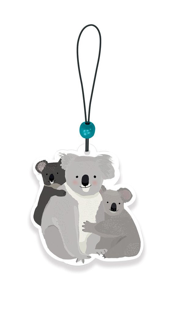 Koala Family Car Air Freshener - Eucalyptus Breeze