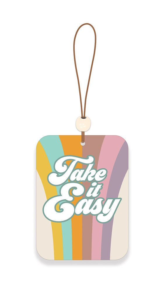 Take It Easy Car Air Freshener - Tropical & Citrus Fruit