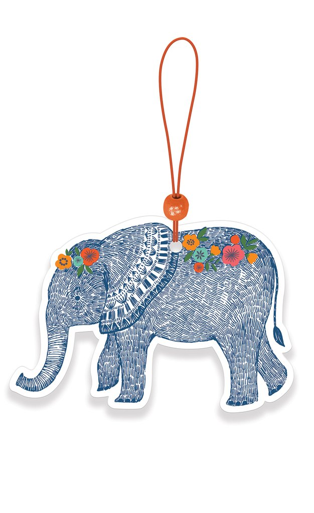 Boho Elephant Car Air Freshener - Citrus Blossom