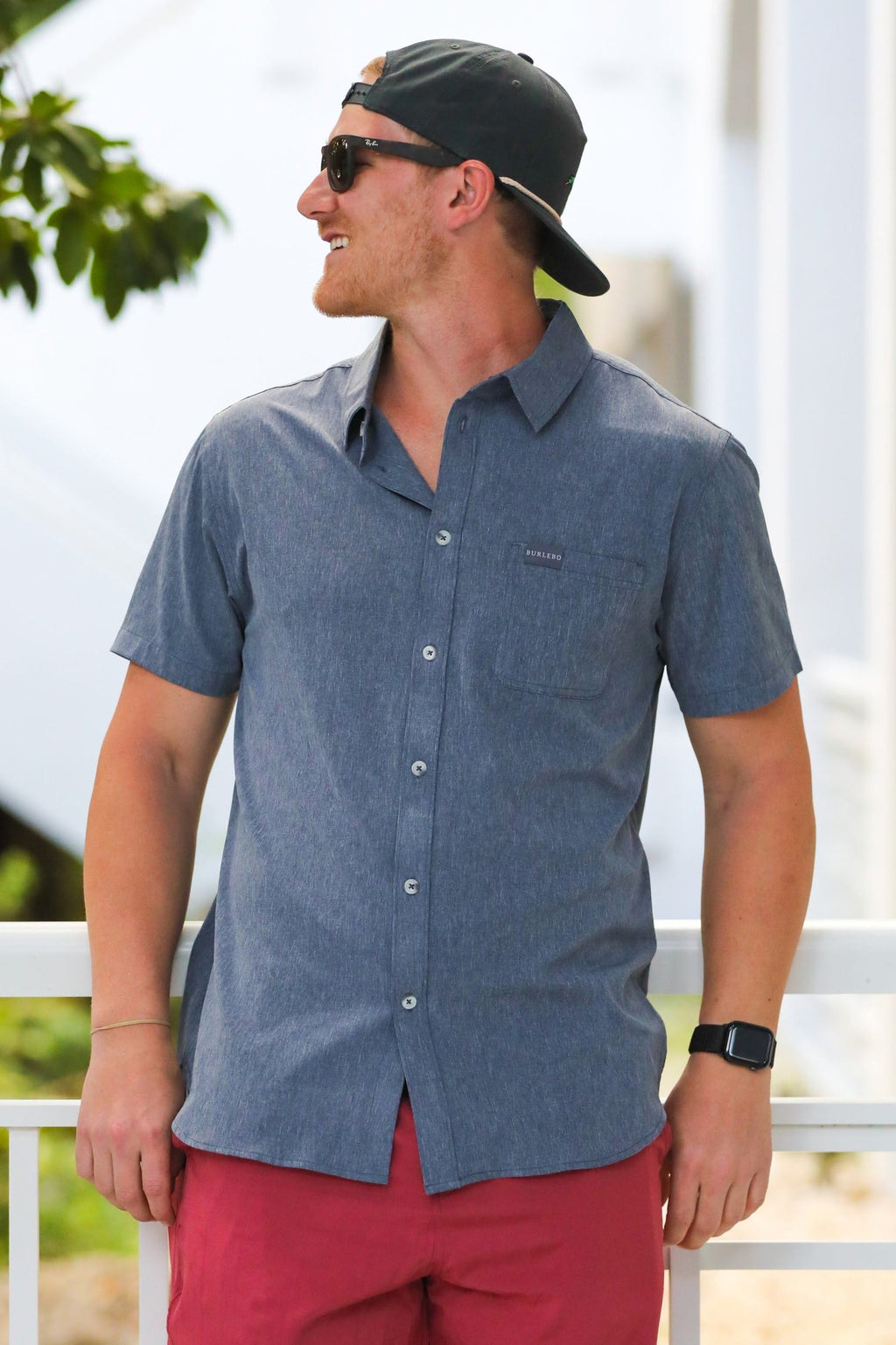Performance Button Up - Dark Heather Grey