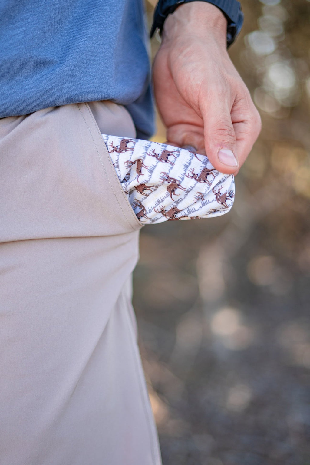 Cobblestone - Deer & Trees Pockets Shorts