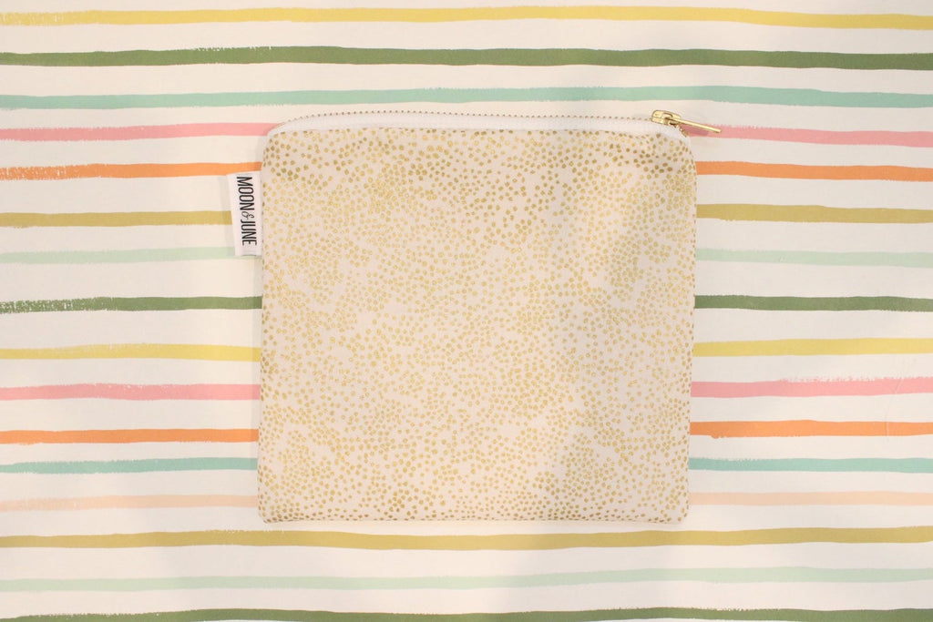 Rifle Paper Champagne Dot Medium Zipper Bag