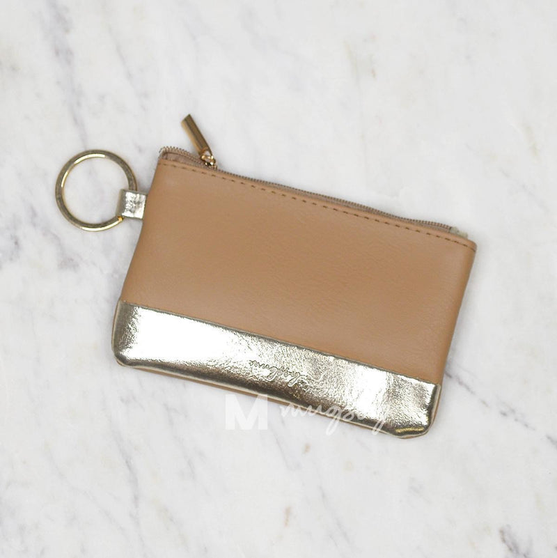 Brown & Gold Key Ring Wallet