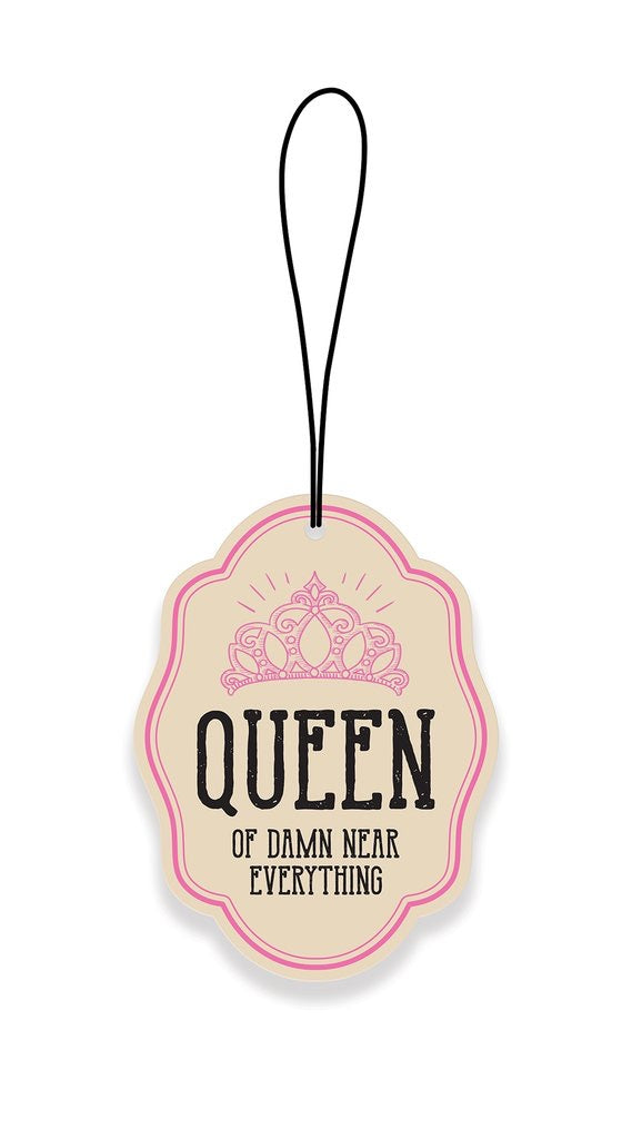 Queen of Damn Near Everything Car Air Freshener - Happy Hour