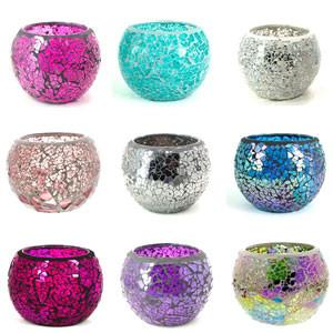 S&S Crackle Mosaic Candles