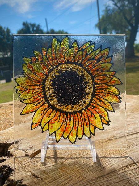 Sunflower on Glass (October 21, 2020 6:30-8:30pm)