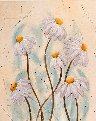 Golden Echinacea (Again) Wine and Paint (July 9, 2020  7-9pm)