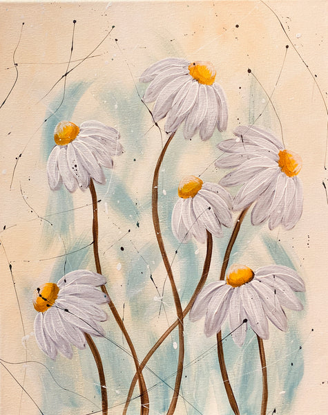 Golden Echinacea Wine and Paint (June 11, 2020 7-9pm)