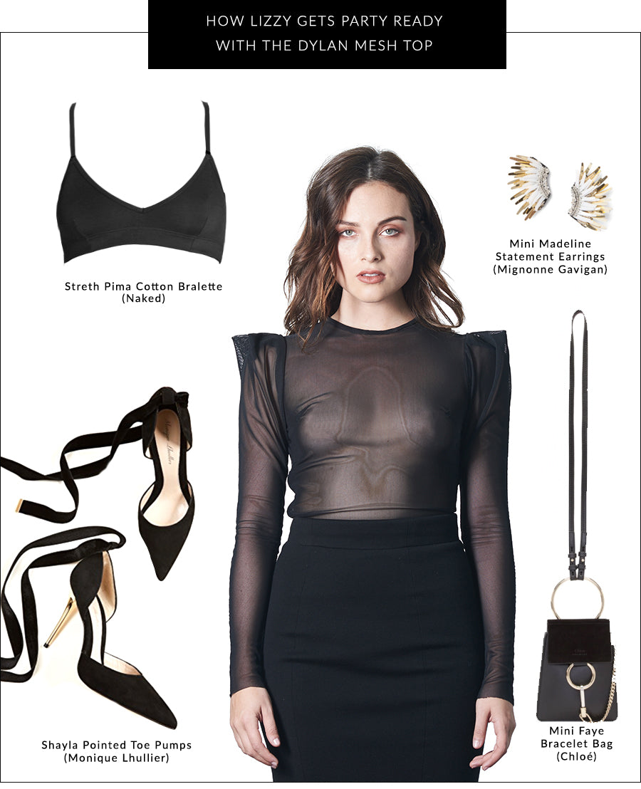All Dressed Up: The Dylan Mesh Top