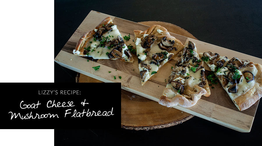 Easy App: Goat Cheese & Mushroom Flatbread