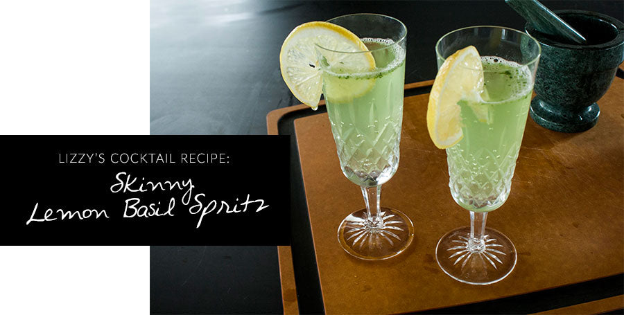 Drink Yourself Clean: Skinny Lemon Basil Spritz