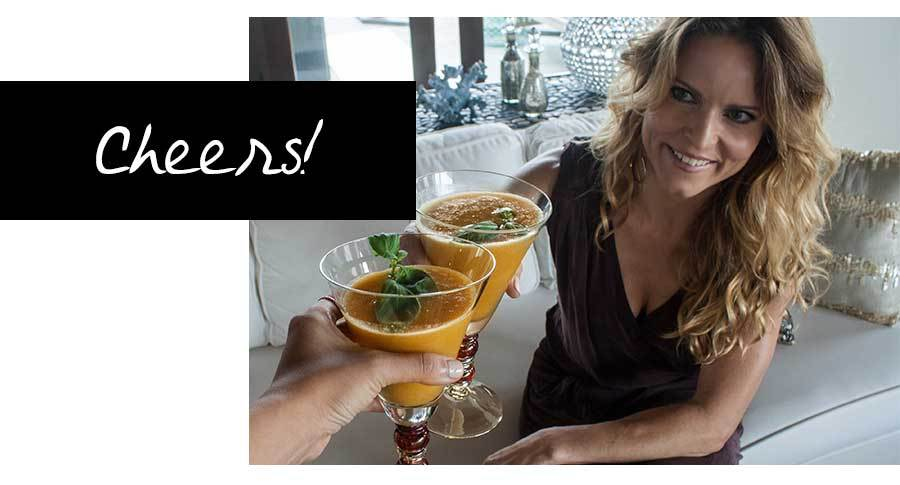 Georgia Peach Cocktail Drink Recipe - Cheers with designer Lizzy Lahive