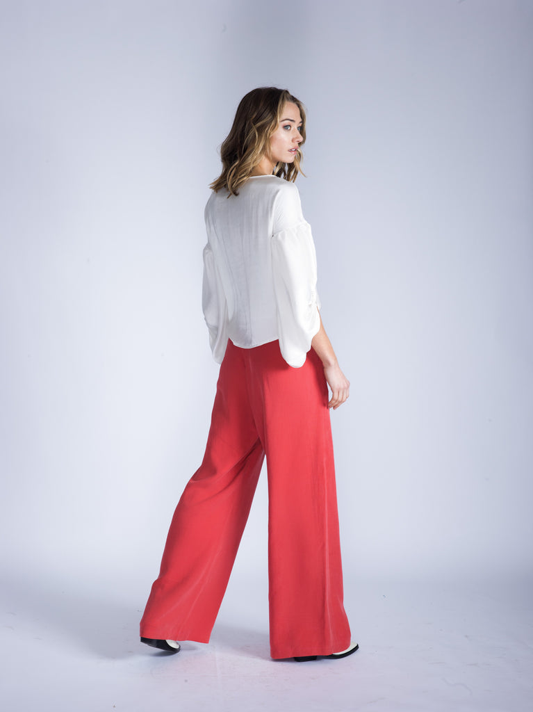 ARIA Wide Leg Cotton Pant
