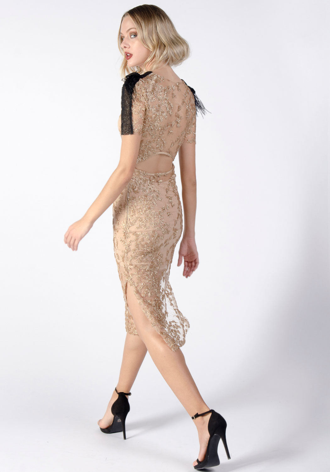 BACALL Lace Sequin Cocktail Dress