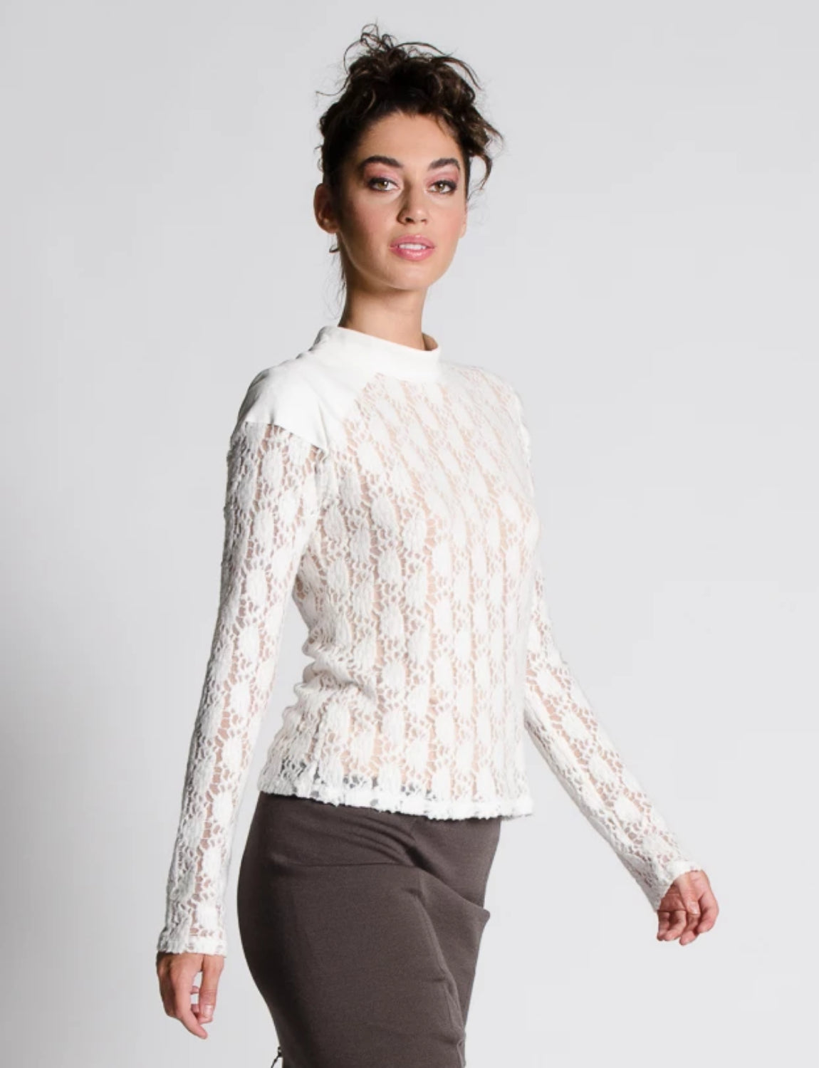 SCARLETTE Sweater Lace Knit Top