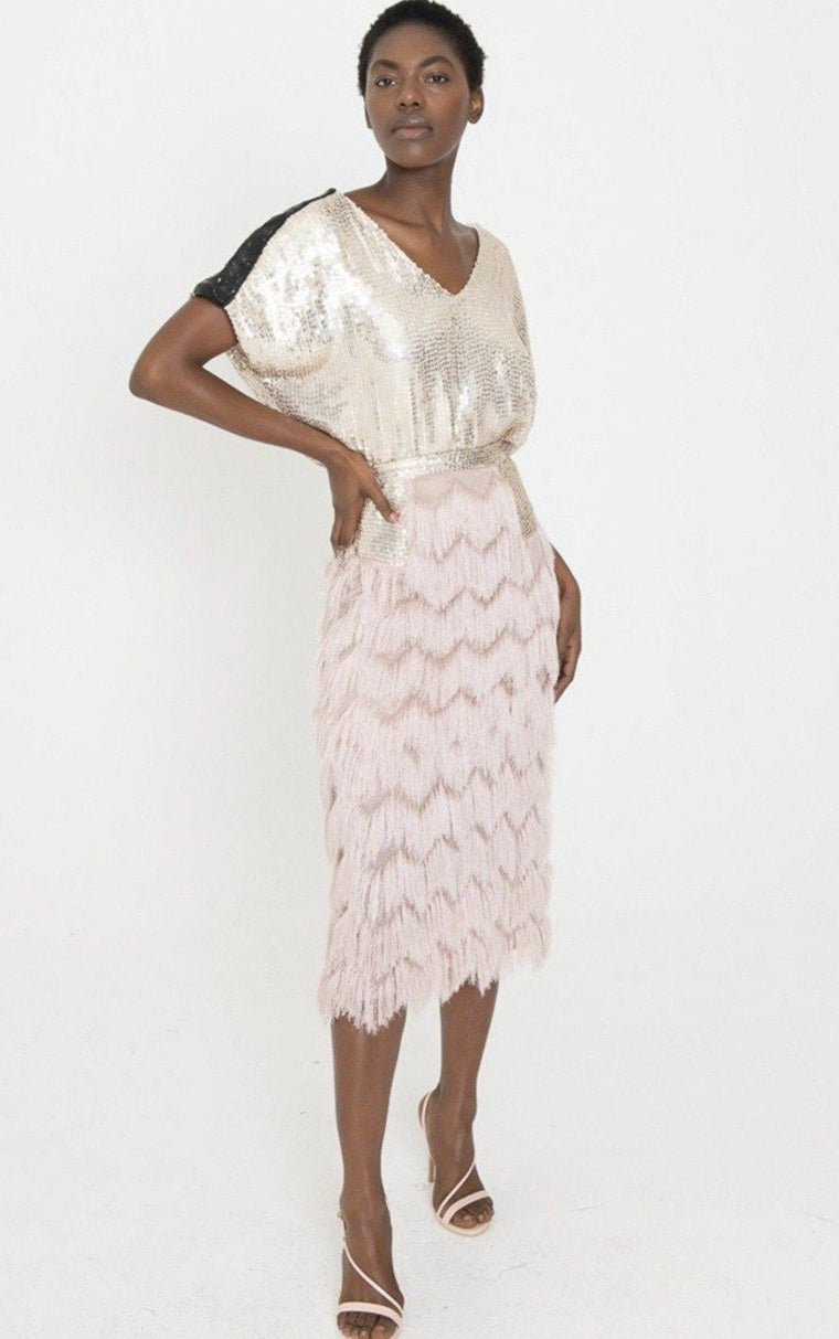 VALENTINA Fringe Skirt in multi-lengths