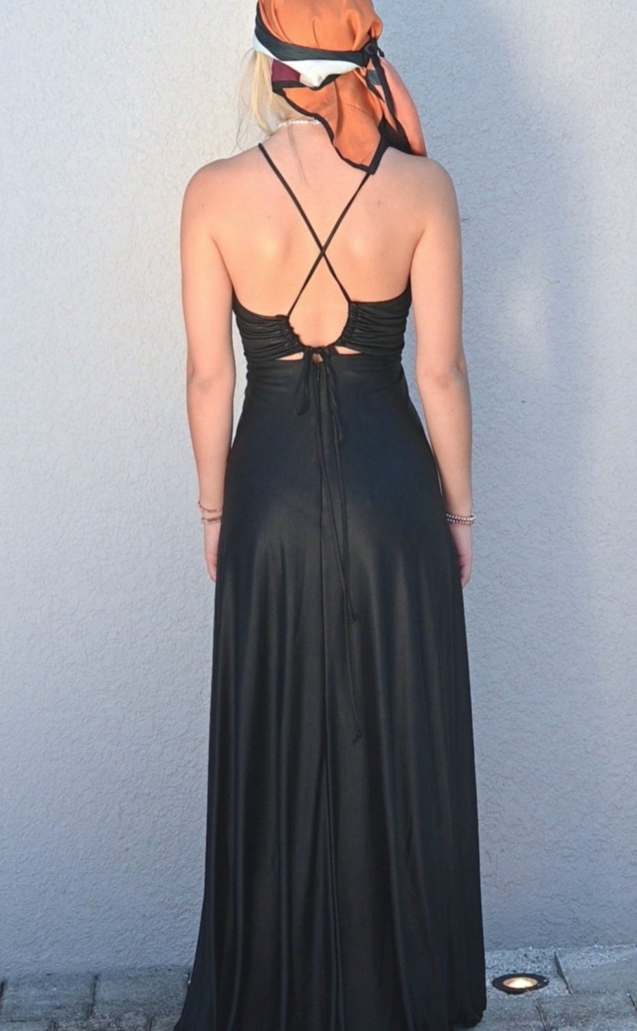 SUNDIS Leather-like Knit Sundress