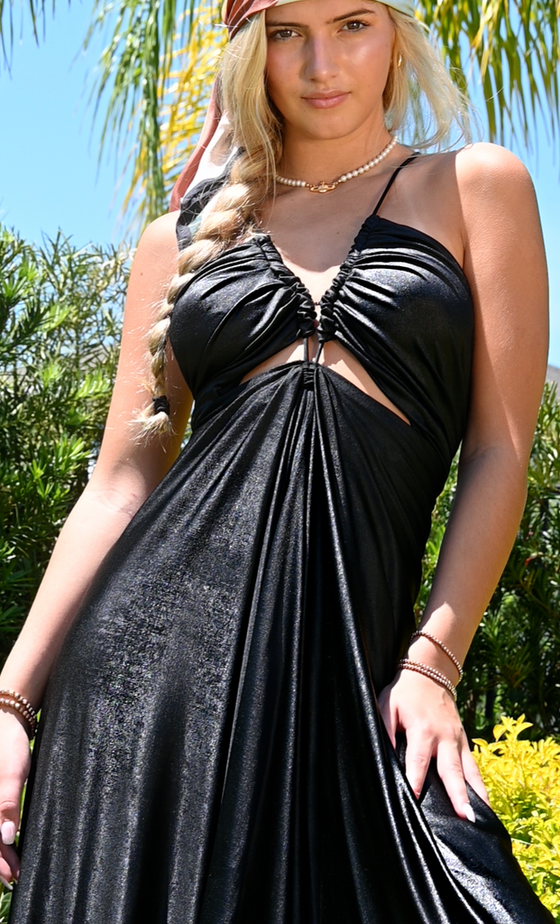 Black knit sundress