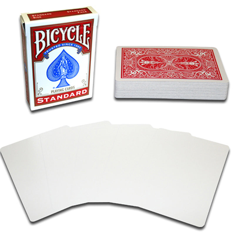 Blank Face Bicycle Playing Cards