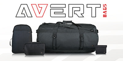 Avert bag range with logo