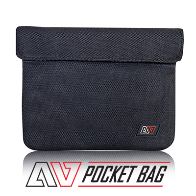 avert pocket bag with text and logo