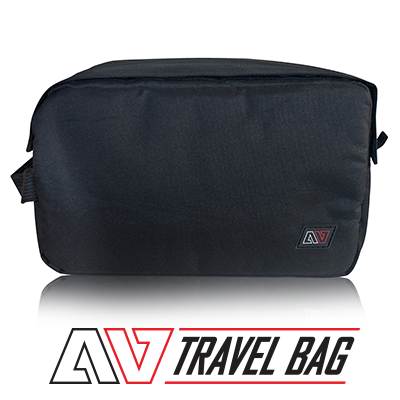 Avert Travel Bag with logo and text