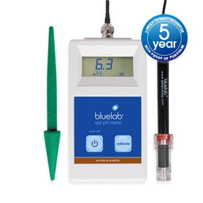 Soil pH meter with 5 year guarantee