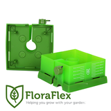 "FloraFlex- 6"" SQUARE FLOOD & DRIP SHIELD W/QUICKER DRIPPERS"