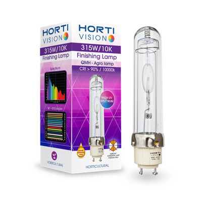 hortivision 315w 10k finishing lampe qmh quartz