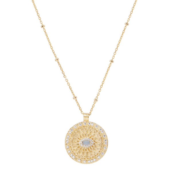 By Charlotte Blessed Eye Necklace, Gold