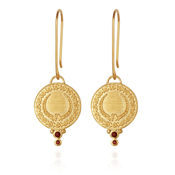 Temple of the Sun Ariana earrings, gold