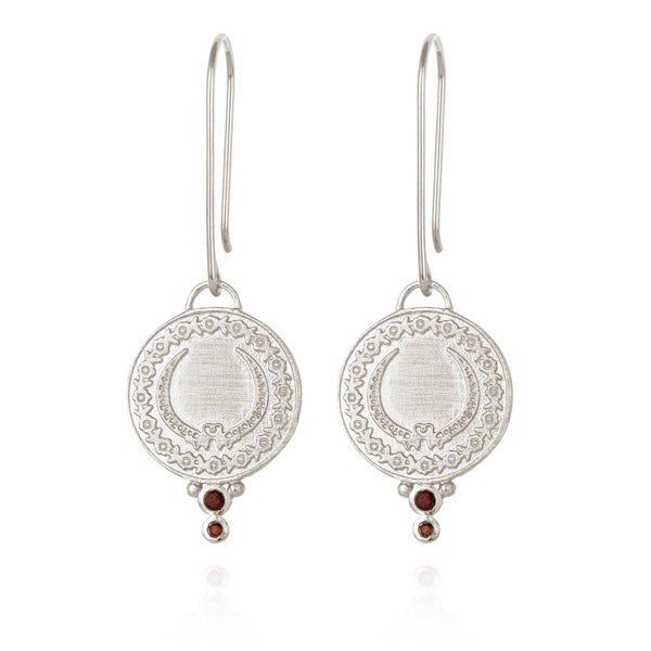 Temple of the Sun Ariana Earrings, Silver