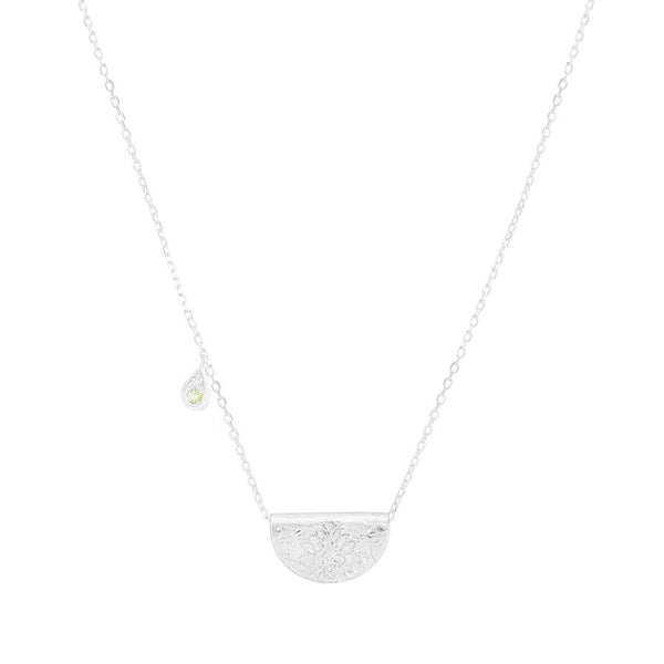 By Charlotte Protect Your Heart Necklace (August), silver