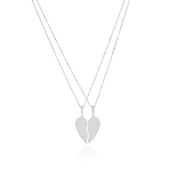 Linda Tahija Best Friend's Necklace Set, Silver