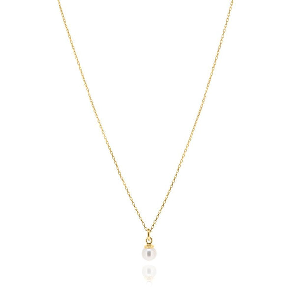 Linda Tahija Cleo Pearl Necklace, Gold