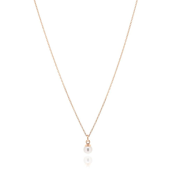 Linda Tahija Cleo Pearl Necklace, Rose Gold