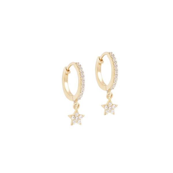 By Charlotte 14k gold Dance Under the Stars single hoop earring