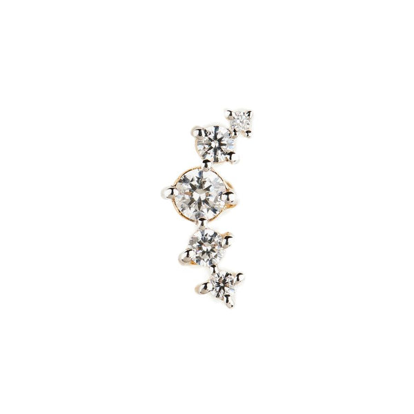 By Charlotte 14k gold Fly me to the Moon Single Earring