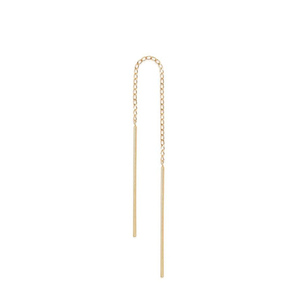 By Charlotte 14k gold Purity Single Thread Earring.