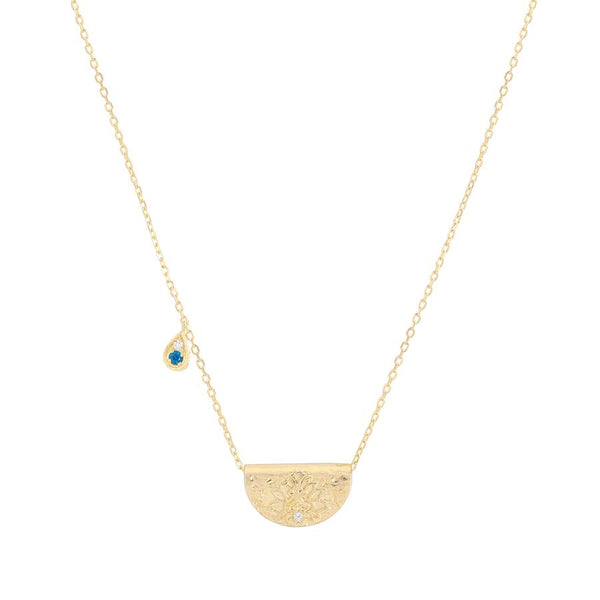 By Charlotte Grow with Grace necklace (December), gold