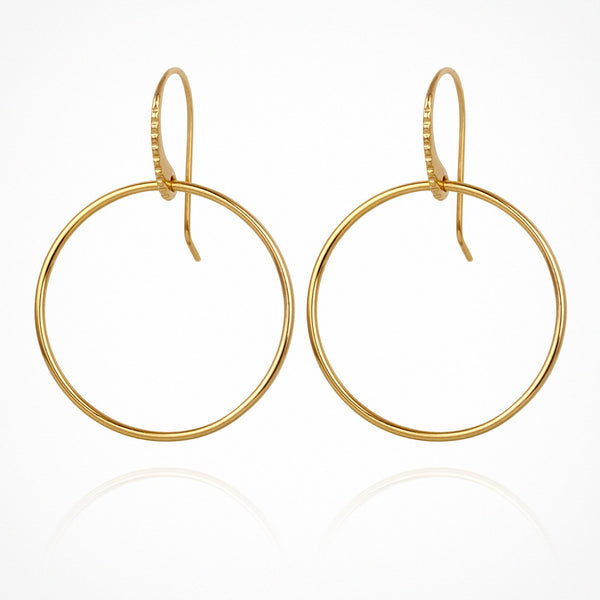 Temple of the Sun Hydra earrings, gold
