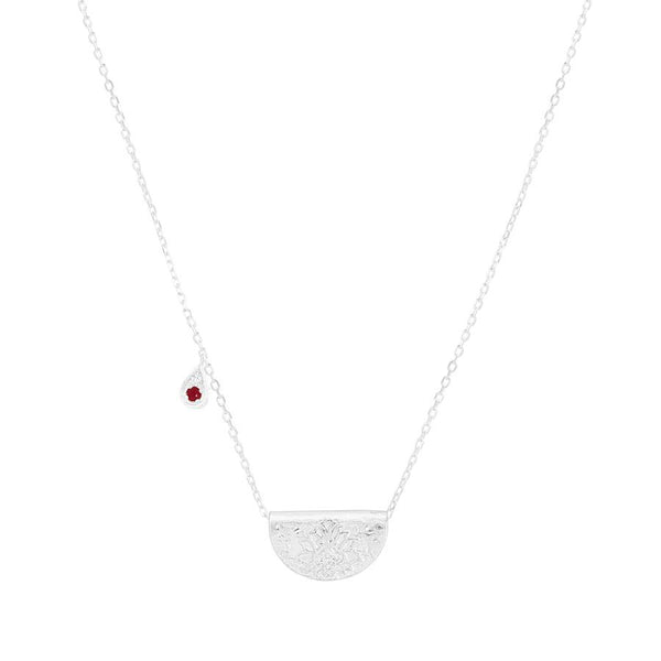 By Charlotte Embrace Your Path Necklace (July), silver