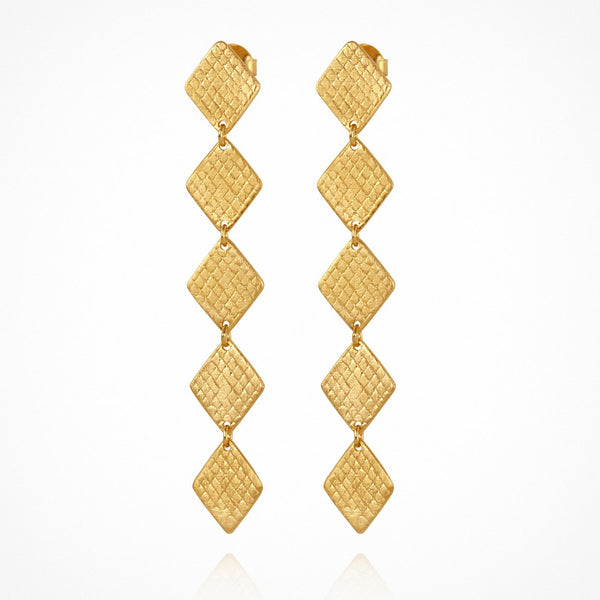 Temple of the Sun Thera earrings, gold