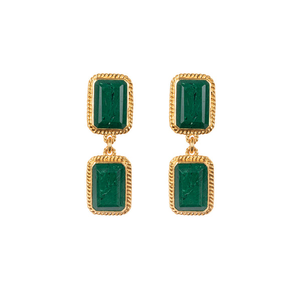 Valere Odyssey Earrings: Malachite
