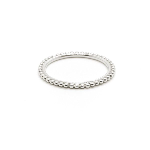 Natalie Marie Full Dot Ring, silver