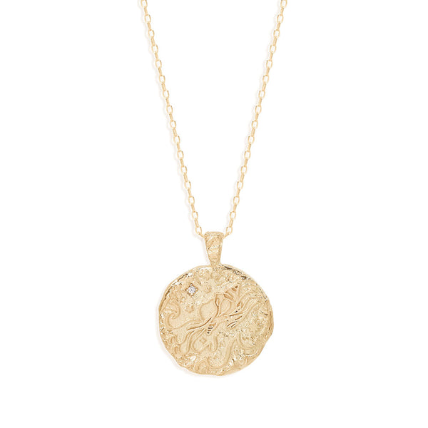 By Charlotte Aquarius Zodiac Necklace Gold